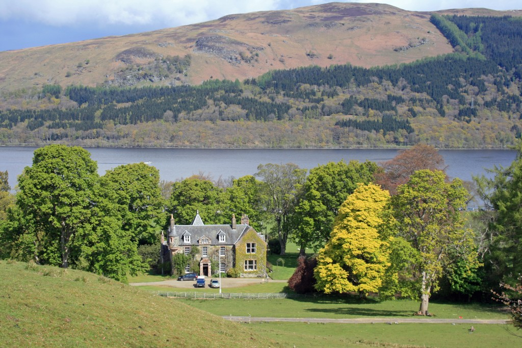 looking down on Ardvorlich House and Loch Earn
