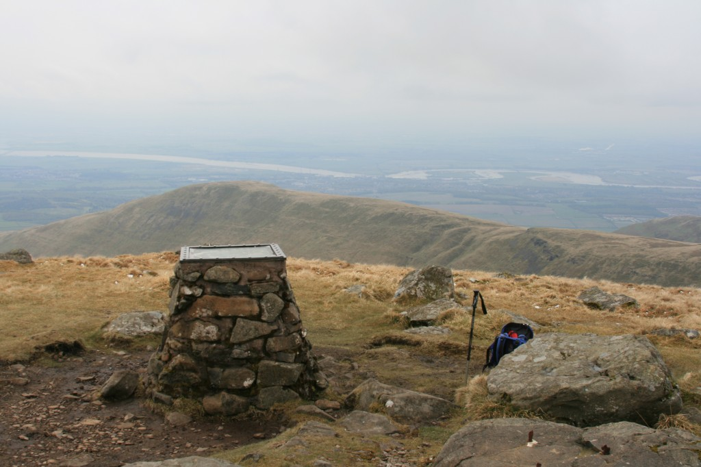 summit of Ben Cleuch, looking south