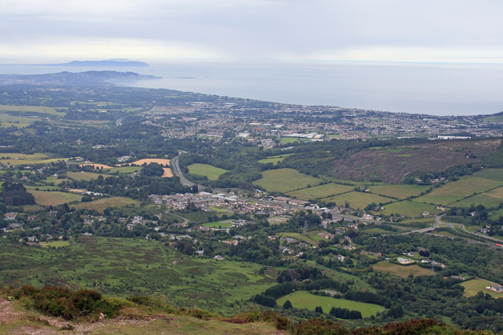 view from summit - towards Dun Laoghaire
