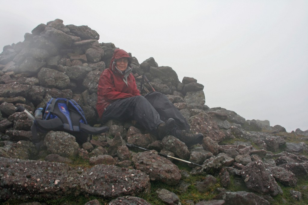 dreich picnic at summit of Galtymore
