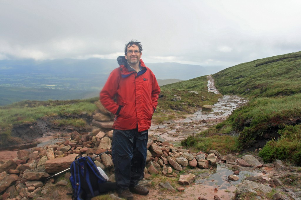 """damp, but smiling at the top of the """"black road"""""""