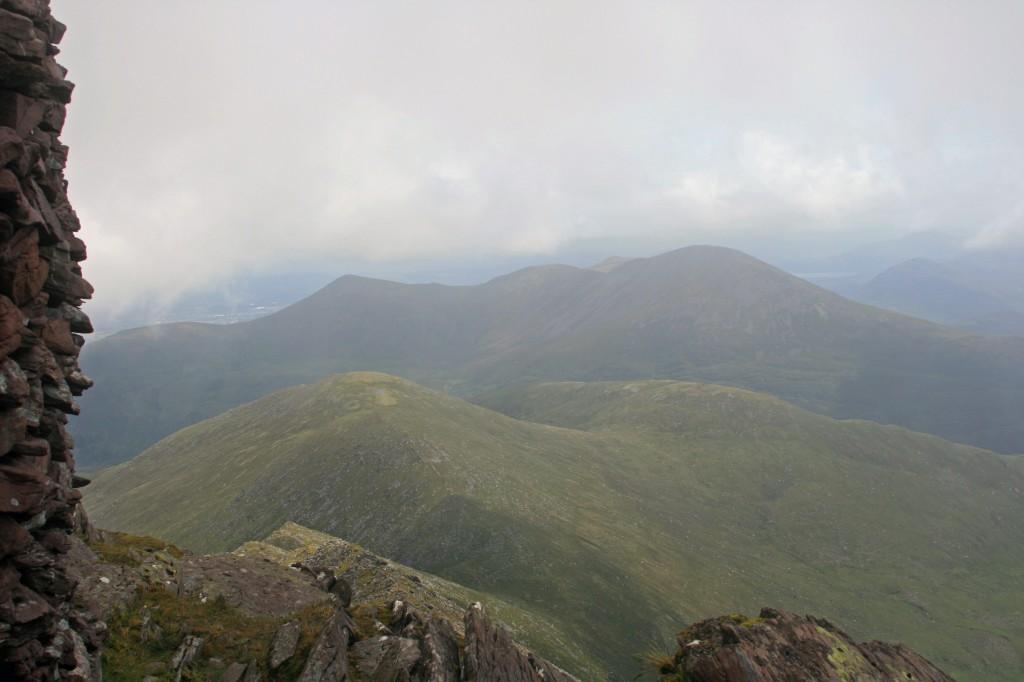 looking NE from Cruach Mhor towards Purple Mountain