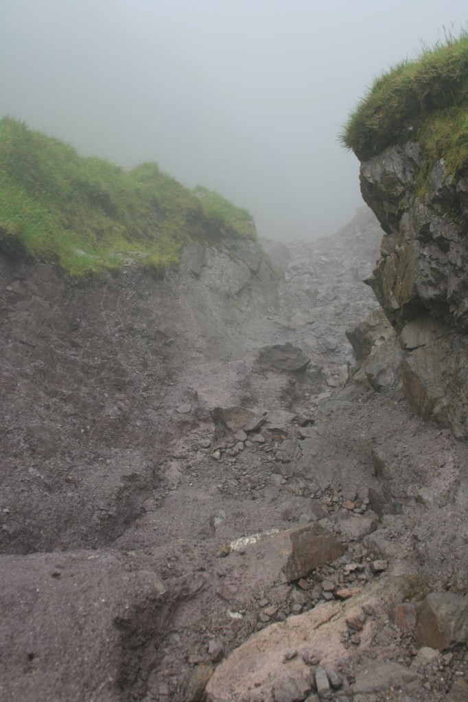 looking down the Devil's Ladder from the col
