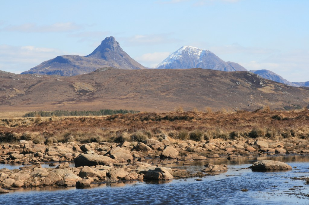 Stac Pollaidh and Cul Mor from Achnahaird