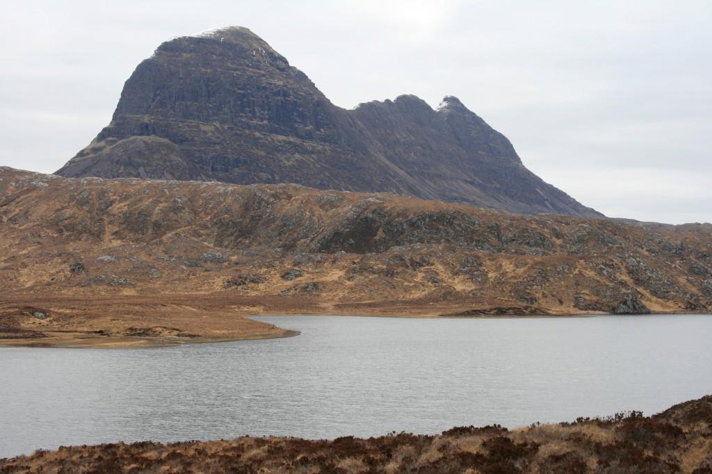 Suilven across the Fionn Loch