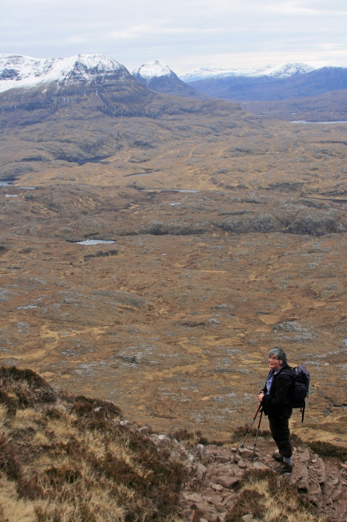 Anne high on the north side of Suilven