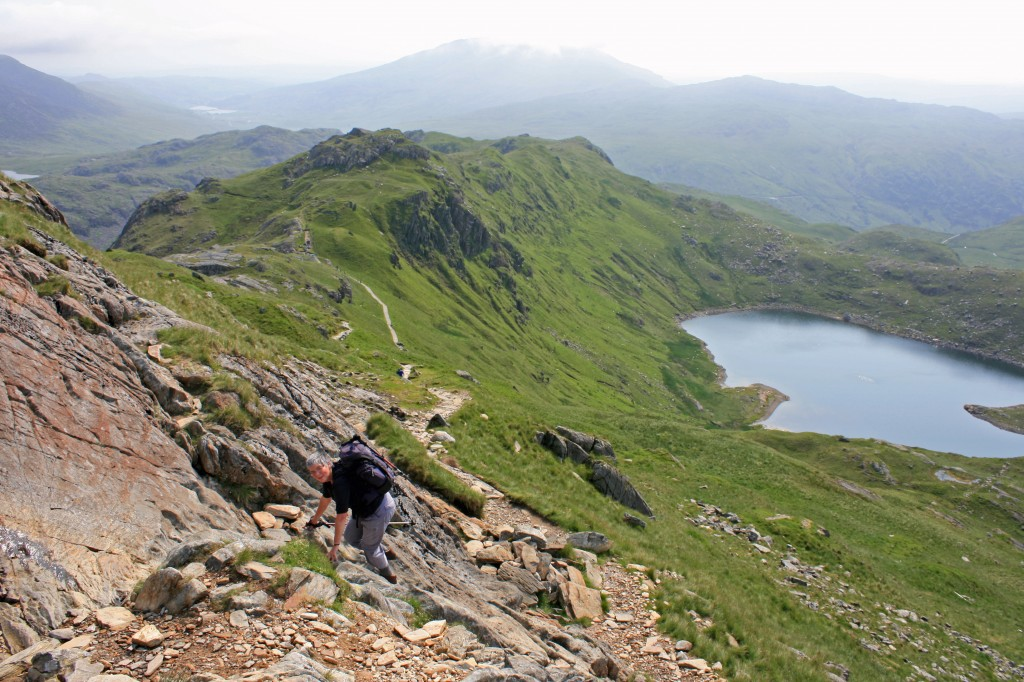 just below the steepest section on Crib Goch