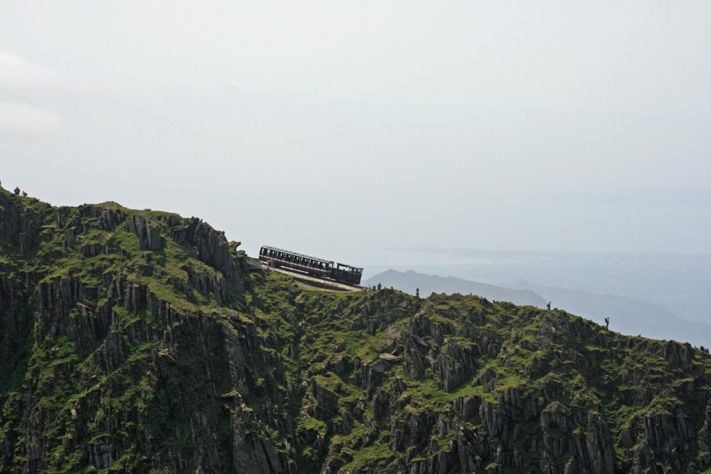 looking across to the Snowdon Mountain Railway from our lunch spot