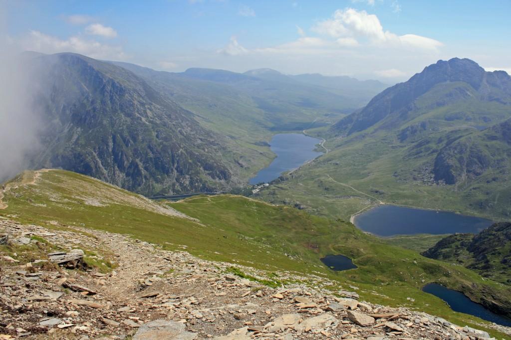 Llyn Ogwen from NE ridge of Y Garn