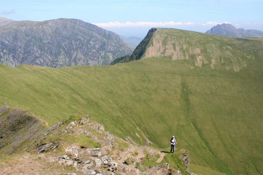 descending from Elidir Fawr - Foel Goch ahead