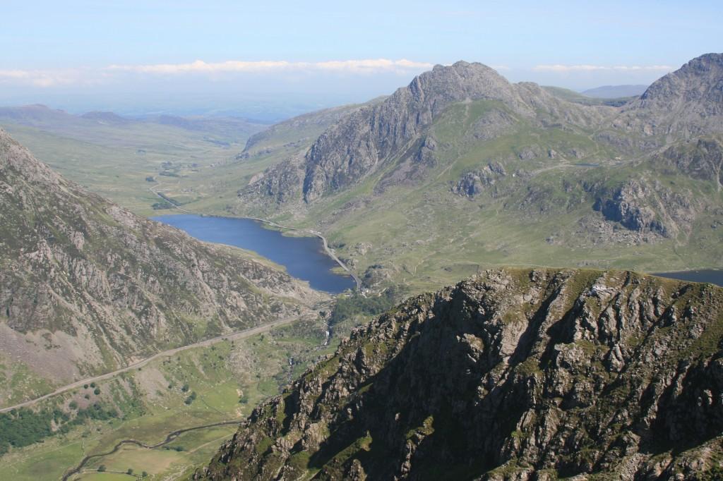 from Foel Goch, looking over Y Llymllwyd, toward Llyn Ogwen