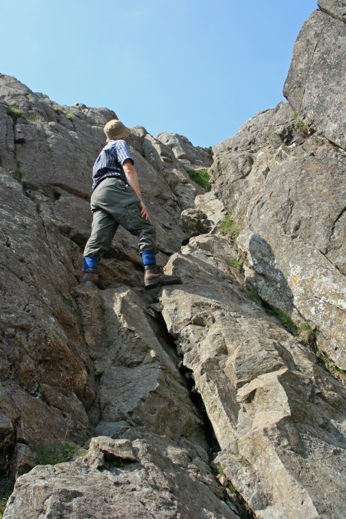on the east ridge of Pen yr Ole Wen