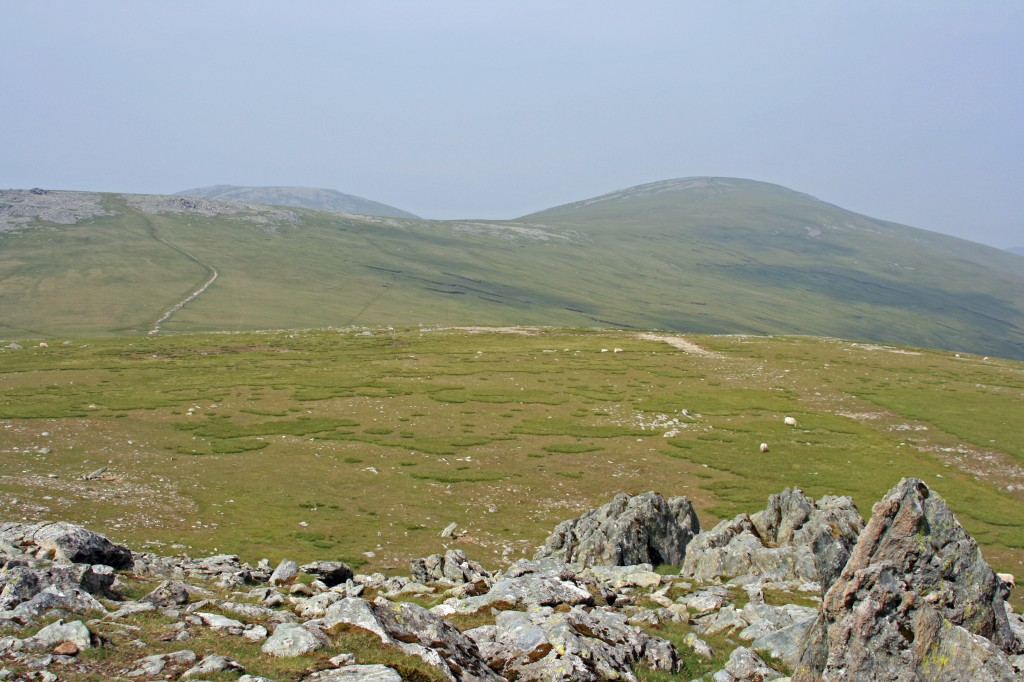 view across the moors towards Foel-fras from Foel Grach