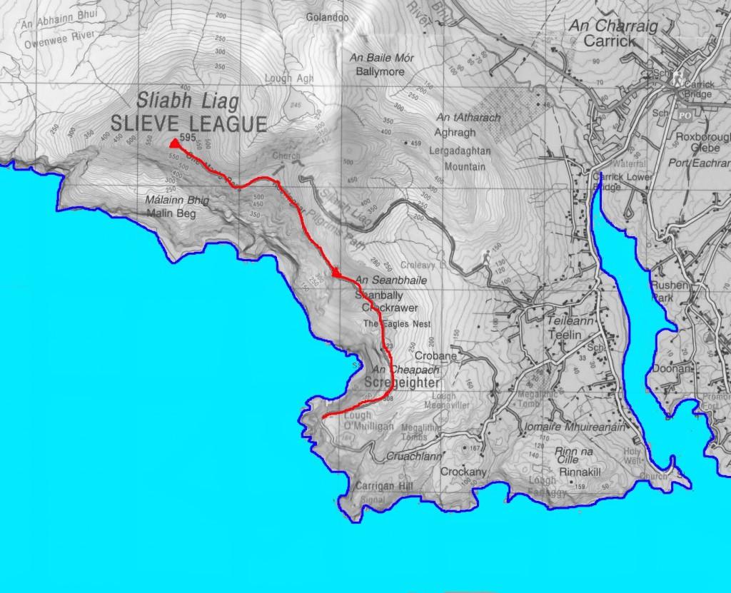 sliabh liag map