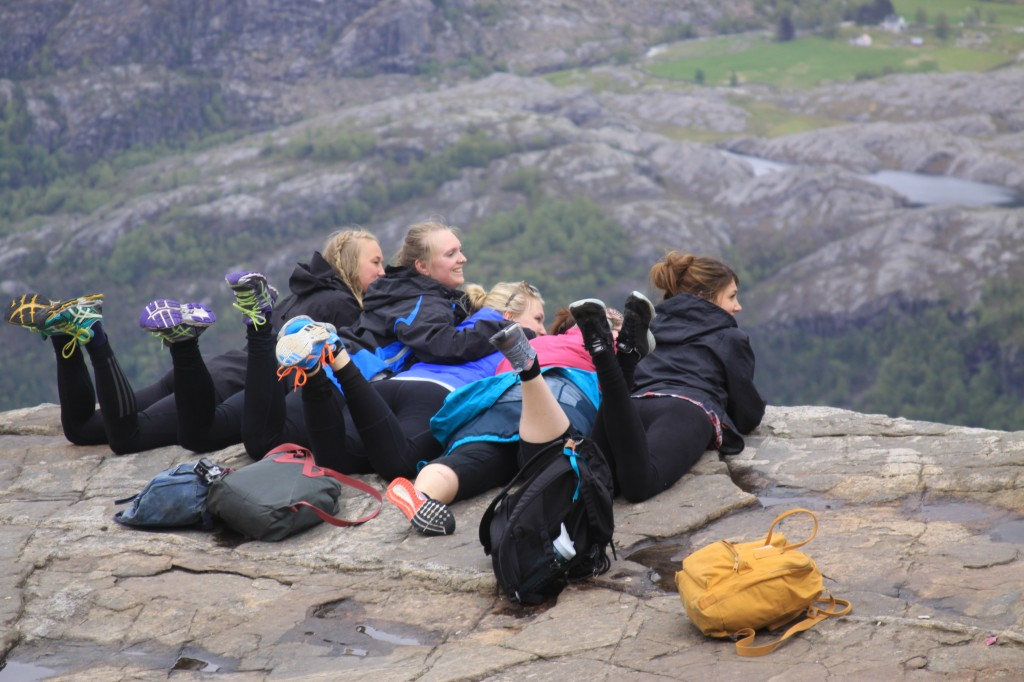 brave souls peering over the edge