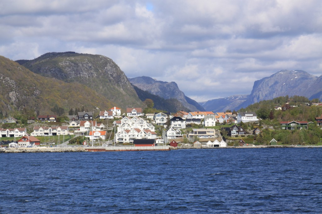 view from the ferry on the way back to Stavanger